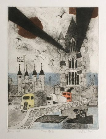 Etching And Aquatint Trevelyan - Tower Bridge