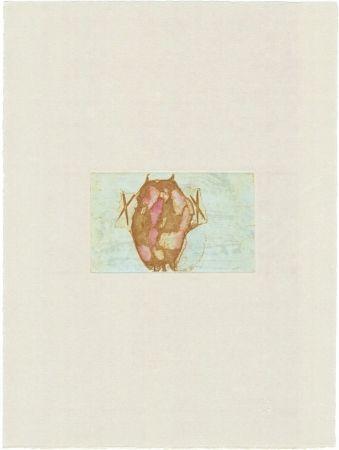 Etching Beuys - Tränen: Schamanentrommel (grün)