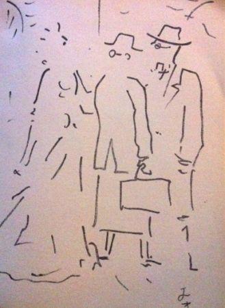 Lithograph Cocteau - Tramway nommé désir