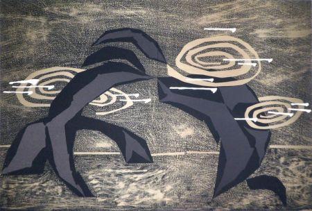 Lithograph Honegger - Transmissions