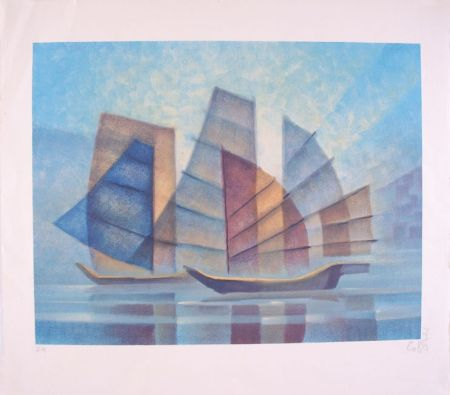 Lithograph Toffoli - Transparence