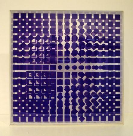Screenprint Vasarely - Transparences: Tsillag