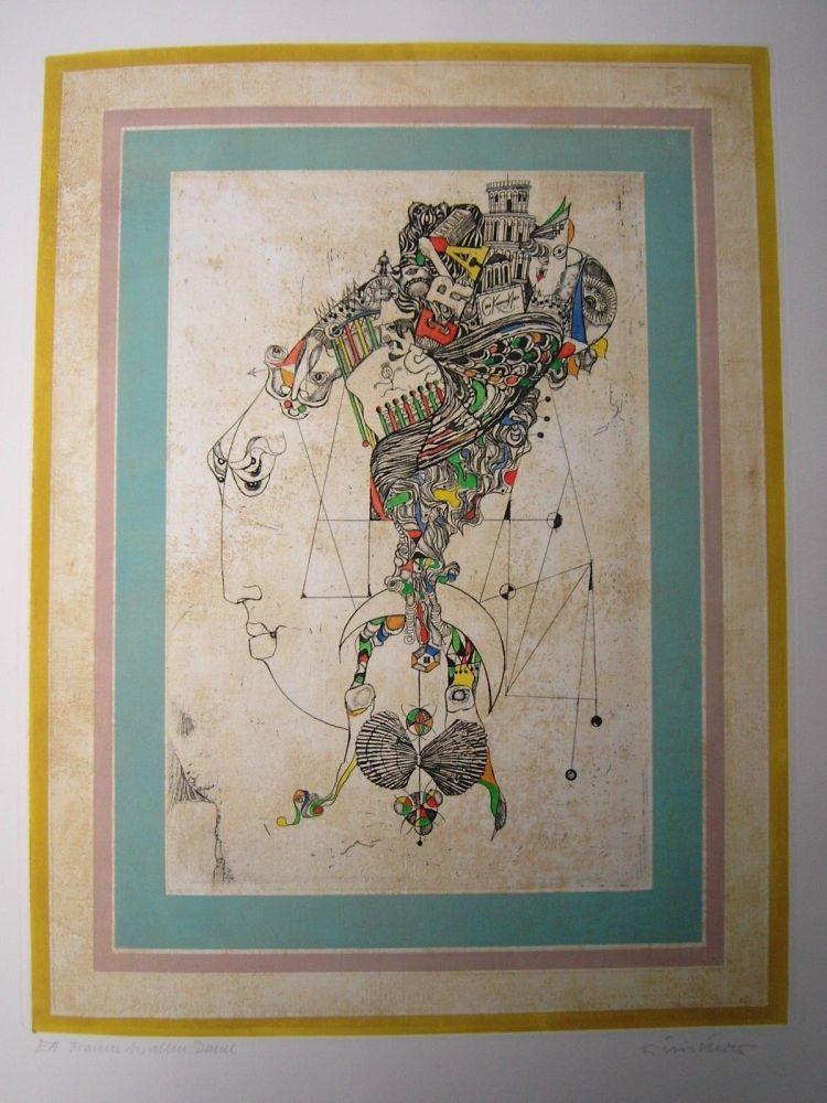 Etching And Aquatint Finsterer - Traum der alten Dame
