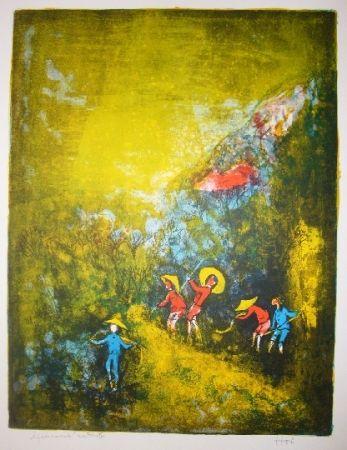 Lithograph Lebadang - Travaux au champ