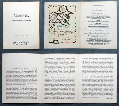 Lithograph Alechinsky -