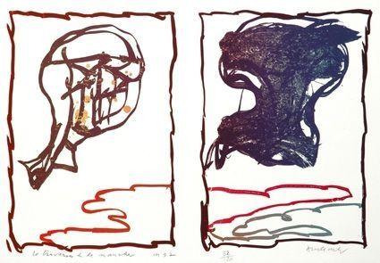 Lithograph Alechinsky - Traversée De La Manche