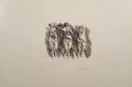Lithograph Morlotti - Tre dame