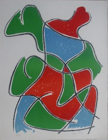 Lithograph Ray - Tre Figure
