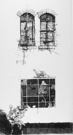 Engraving Vespignani - Tre finestre