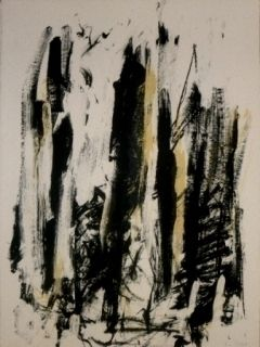Lithograph Mitchell - Trees 2