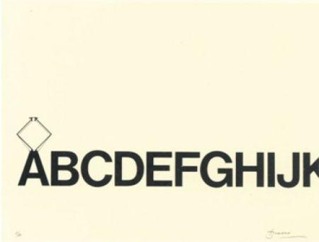 Lithograph Brossa - Tren de lletres