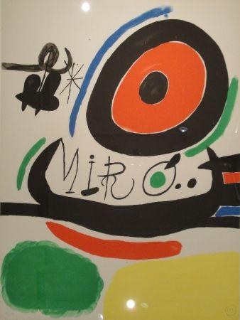 Lithograph Miró - Tres libres