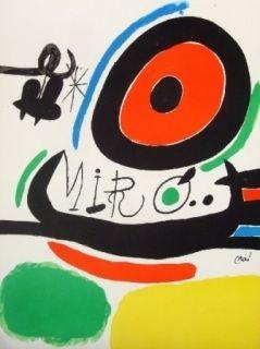 Lithograph Miró - Tres Llibres