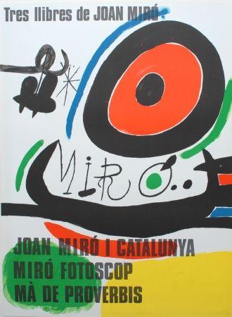 Lithograph Miró - Tres llibres de Joan Miró