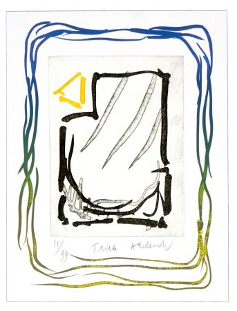 Lithograph Alechinsky - Triade jaune