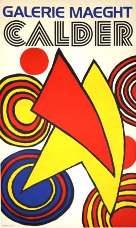 Lithograph Calder (After) - Triangles et Spirales Galerie Maeght