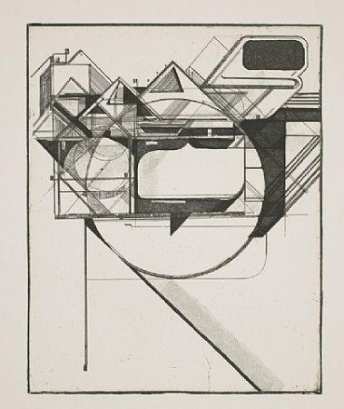 Etching And Aquatint Kofie - Triangulation 1