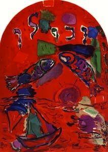Lithograph Chagall - Tribu de Zabulon