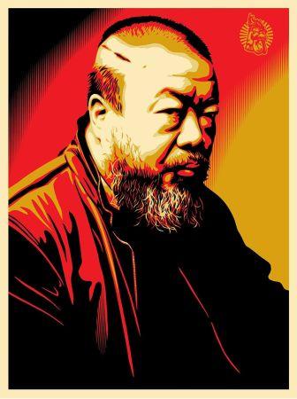 Screenprint Fairey - Tribute to Ai Weiwei