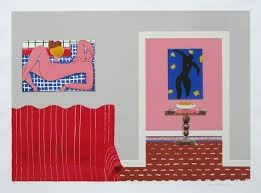 Lithograph Nhlengethwa - Tribute to Henry Matisse