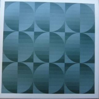Lithograph Bird - Tribute to Vasarely 4