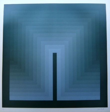 Lithograph Bird - Tribute to vasarely 9