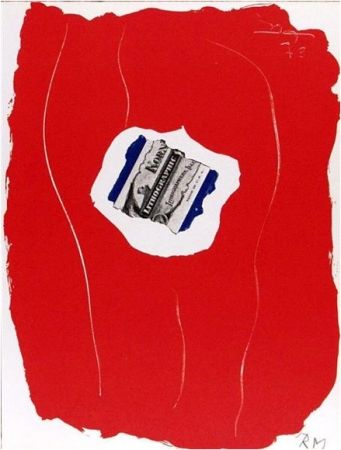 Lithograph Motherwell - Tricolor