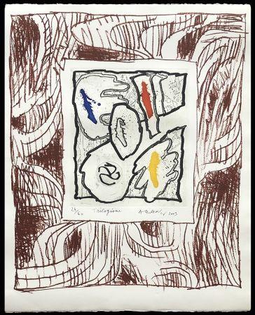 Etching Alechinsky - '' Trilogisme ''