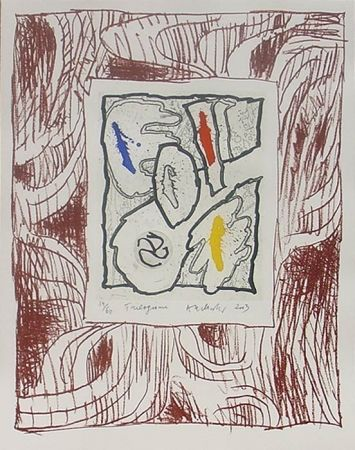 Woodcut Alechinsky - Trilogisme