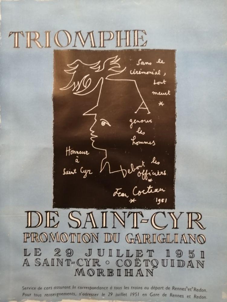Poster Cocteau - Triomphe de Saint Cyr - Promotion du Garigliano -