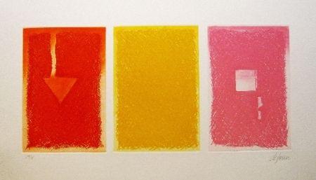 Etching And Aquatint De Juan - Triptica en color II