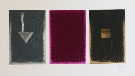 Etching And Aquatint De Juan - Triptico en color I