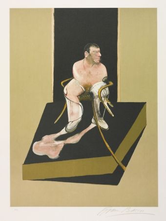 Etching And Aquatint Bacon - Triptych 1986-1987: Study for a portrait of John Edwards (S. 6)