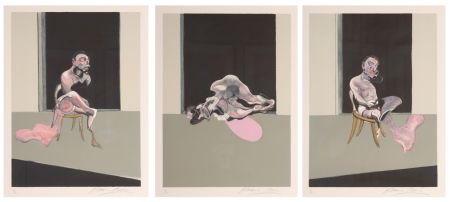 Lithograph Bacon - Triptych August 1972
