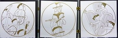 Etching Rodo-Boulanger - Triptych (Musicians)