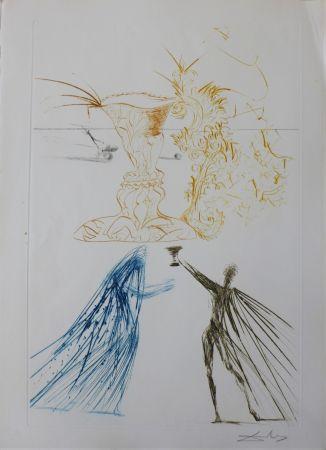 Etching Dali - Tristan et Iseult