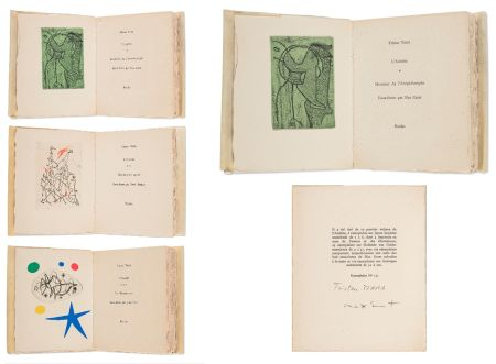 Illustrated Book Ernst - Tristan Tzara. L'ANTITÊTE.  Max Ernst, Yves Tanguy, Joan Miro (3 vols. Paris, 1949)