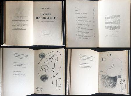 Illustrated Book Miró - Tristan Tzara. L'ARBRE DES VOYAGEURS. Orné de quatre lithographies de Joan Miró.