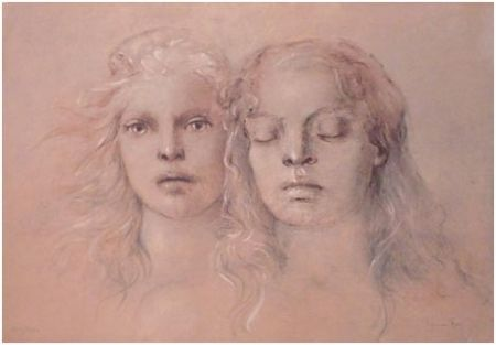 Lithograph Fini - Tristan und Isolde / Met Opera