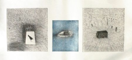 Etching And Aquatint Paladino - Trittico