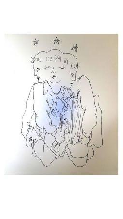 Lithograph Cocteau - Trois en Un