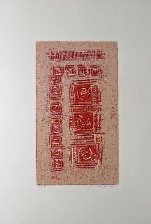 Woodcut Rhee - Trois Miroirs