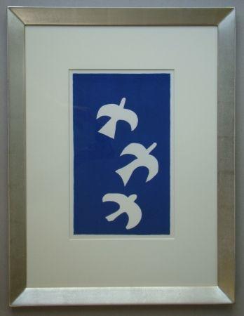 Lithograph Braque - Trois Oiseaux