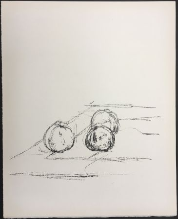 Lithograph Giacometti - TROIS POMMES (Three apples). 1961. Lithographie originale