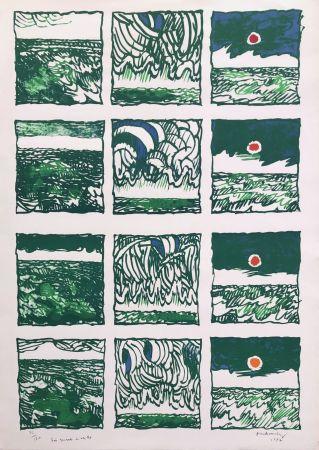 Lithograph Alechinsky - Trois quarts 2 veille