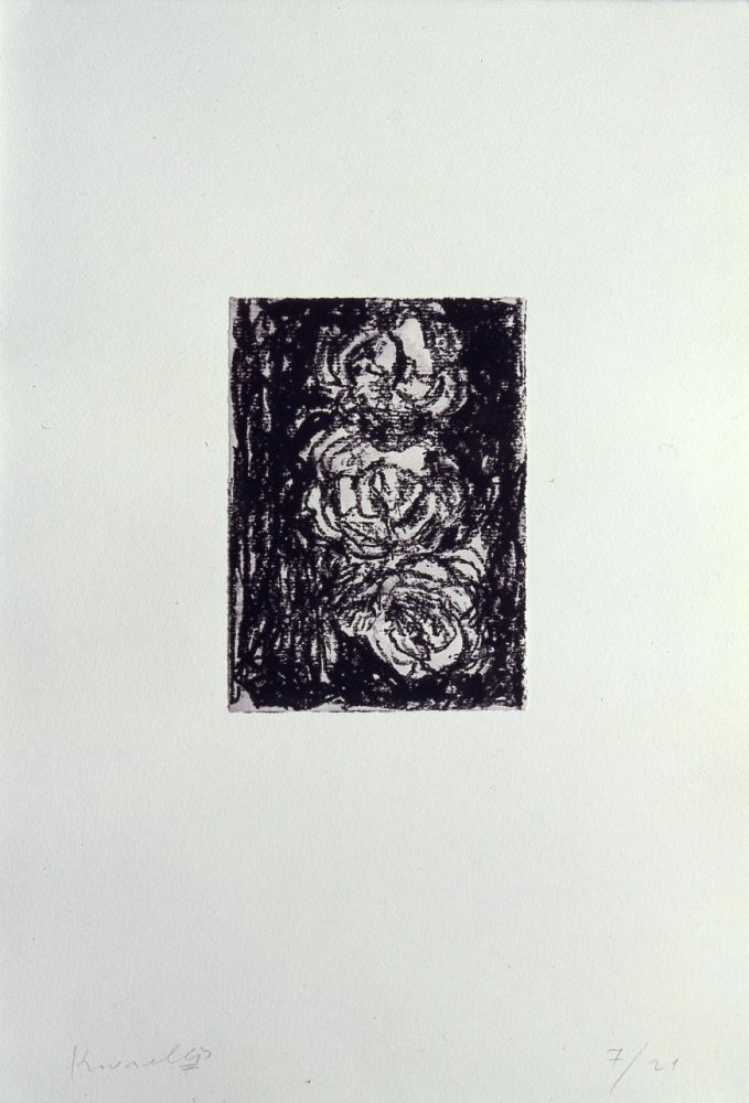Lithograph Kounellis - Trois roses