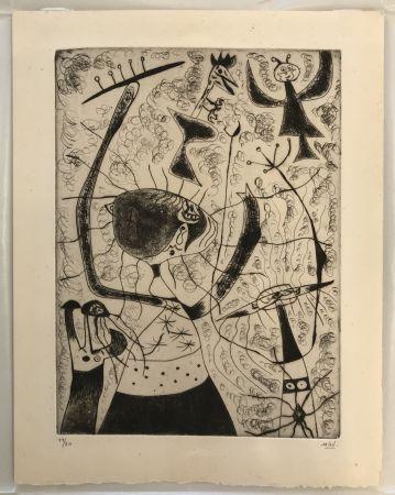 Drypoint Miró - Trois Sœurs