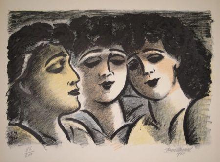 Lithograph Masereel - Trois visages