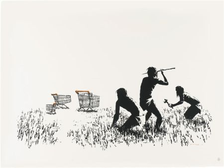 Screenprint Banksy - Trolleys