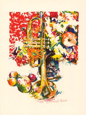 Lithograph Buri - Trompette
